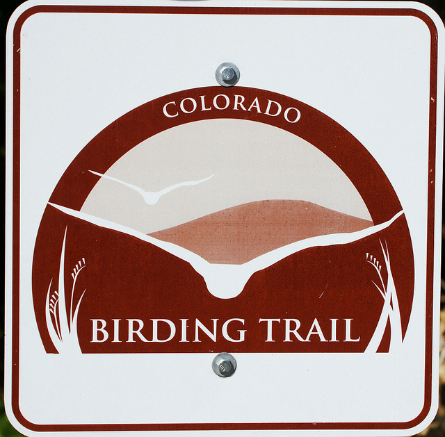 Colorado Birding Trail sign